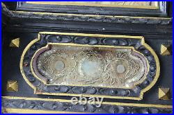 36,6 Rare Antique 19thc French Relic holder Saints Wood carved religious church