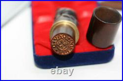 Antique Rare Victorian Museum Quality Wooden Carved Dog Vintage Stamp Wax Seal