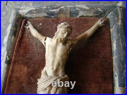 Antique Rare early 17th century GERMAN carved Corpus Christi Home Altar Crucifix