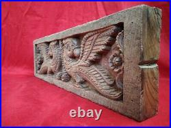 Antique Temple Peacock Yali Wall Panel Wooden Handcarved Door panel Rare Decor