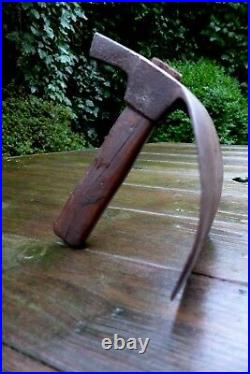 Antique carving carpenter adze woodworking tool stamped marker logo very rare