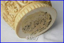 Carved Chinese elephant vase rare white Cinnabar dating from 1890s