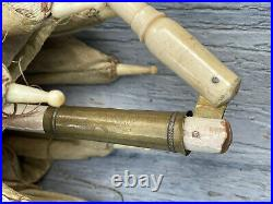 Exquisite Antique Victorian Parasol Ornately Carved Dog Head Handle Rare Folding