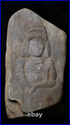 Micronesia-Oceania Rare Maiden Relief Stone Carving 1000-1500 AD Fine Detail