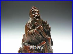 Ming Dynasty Extremely Rare Set Antique Chinese 4 Immortals carved Bamboo