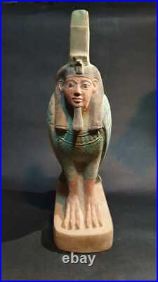 RARE ANCIENT EGYPTIAN ANTIQUES GOD BA Statue Egypt Hand Carved Stone BC