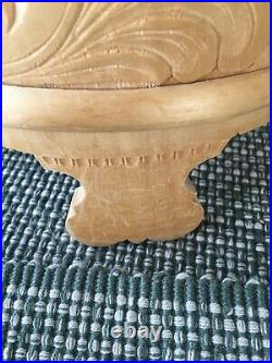 RARE NORWEGIAN CARVED GRAUTAMBER OR TINE WITH ROSEMALED PATTERN (25%off)