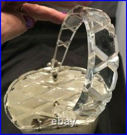 RARE Vintage White Glitter Lucite Unusually Shaped Carved Top Handbag or Purse