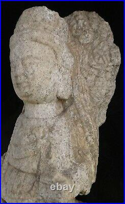 Rare Ancient Chinese carved stone Bodisatva. Wei or Sui dyn. 4th -7th AD. 18 tall