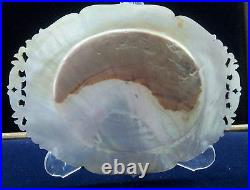 Rare Antique Judaica Jerusalem Carved Shell Mother-of-Pearl