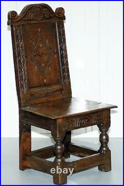 Rare Circa 1760 Fruit Wood Chair Nicely Carved Quite Small 18th Century Example