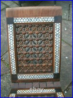Rare Large Outstanding Antique Islamic Carved Inlaid Koran Stand