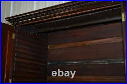 Very Rare Hand Carved Edward & Roberts Circa 1880 Armoire Wardrobe With Drawers