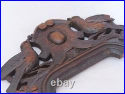 Wedding Symbol Antique Hand Carved Pediment RARE 11x5 Couple of Doves 19TH