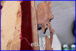 XL German antique Black forest wood carved crucifix cross religious rare
